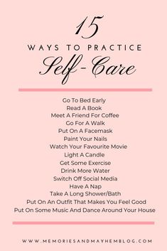 15 easy and quick ways to add some self-care into your daily and weekly routine Practice self-care to help yourself feel great. Self-love is so important if you want to be able to show up as the best version of you. Annorexia Tips, Love Tips, Motivacional Quotes, Wife Quotes, Friend Quotes, Happy Quotes, Vie Positive, Burn Out, Gewichtsverlust Motivation