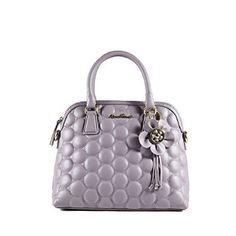 Anna Tosani Women Fashion Genuine Leather Top Handle bags-Purple  Handbags   Amazon.com 283f79d155734