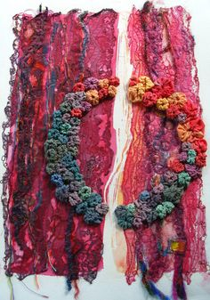 mixed textile art// love all the colours used in this piece.