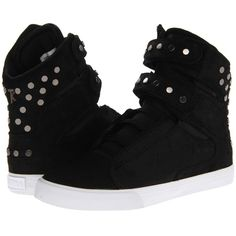Supra Society Women's Skate Shoes ($104) ❤ liked on Polyvore featuring shoes, black, supra shoes, black lace up shoes, leather lace up shoes, supra footwear and kohl shoes