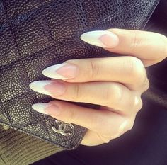Stiletto French Manicure | chanel-and-louboutins tumblr #stilettonails #frenchmanicure