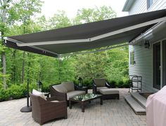 Superbe Decks With Awnings | Retractable Awnings Add Space Without The Costly  Addition | Outdoor Patio Awnings | Pinterest | Retractable Awning, Decking  And Spaces
