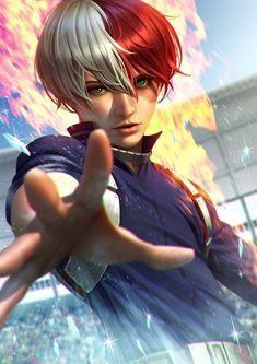 Fan Art Anime, M Anime, Hot Anime Boy, Otaku Anime, Anime Guys, My Hero Academia Shouto, Hero Academia Characters, Wizyakuza Anime, Ken Tokyo Ghoul
