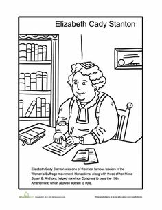 susan b anthony coloring page lengua. Black Bedroom Furniture Sets. Home Design Ideas