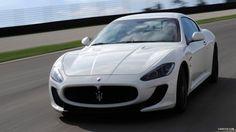 White Maserati GranTurismo MC Stradale Car HD Wallpaper