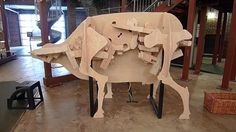 Cow is a Rube Goldberg machine made by Chinese artist Nova Jiang. The machine shows a cow's gastrointestinal system.