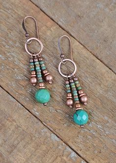 Turquoise earrings boho jewelry southwestern earrings boho