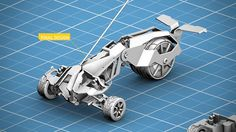 Prowler, a custom 3D printed RC car with reused stock car parts