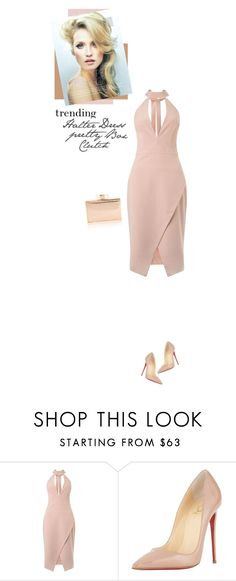 """""""Pretty Box Clutch"""" by mcheffer ❤ liked on Polyvore featuring Miss Selfridge, Christian Louboutin, BOXCLUTCH and under1000"""