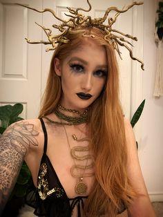 Halloween Medusa Makeup