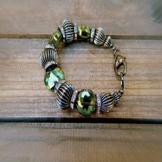 Swamp Goddess Western Cowgirl Green Faceted Crystal by JAYB99, $22.00