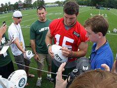 """NFL writers honor Jets' Tim Tebow with 'Good Guy Award'"" USA Today (June 19, 2012)"