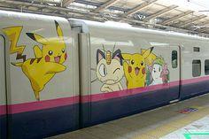 Pokemon Train in Osaka, Japan