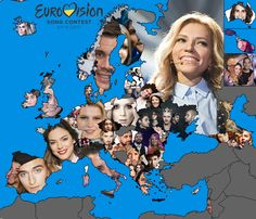Map of Eurovision 2017 Artists