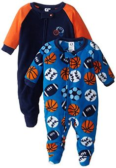 Gerber Baby-Boys Newborn 2 Pack Blanket Sleepers, Sport, 18 Months *** To view…