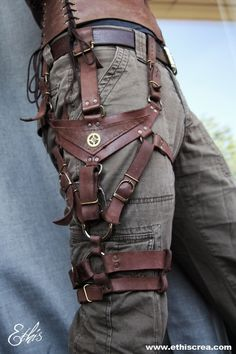 """grrrd:   steampunkxlove: Steampunk leather harness by Ethis Creations  obligatory """"CHECK IT, GEARS."""""""