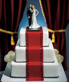 wedding cakes with red carpet - Yahoo Image Search Results