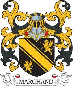 Marchand Family Crest and Coat of Arms