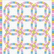 Wedding Ring Quilt Pattern Free - Bing Images Wedding Ring Quilt, Wedding Rings, Quilt Patterns Free, Free Pattern, Rail Fence Quilt, Bing Images, Quilting, Kids Rugs, Sewing