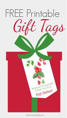 Download your FREE Printable Christmas Peace, Love & Joy Gift Tags...