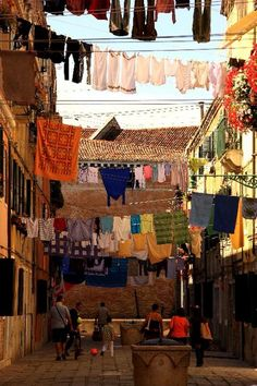 Laundry Day in Venice Photograph  By Michael Henderson
