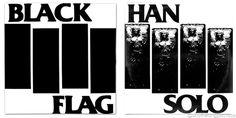 Black Flag Logo / Star Wars Han Solo in Carbonite  Mash Up Vinyl Record Art Print #blackflag #henryrollins #starwars #thelastjedi #lastjedi #jedi #tshirt #mashup #photoshop #parody #albumcover #album #cover #lp #record #vinyl #scifi #nerd #music #movie #geek #lukeskywalker #hansolo #princessleia #r2d2 #c3po #darthvader #chewbacca #harrisonford #carriefisher #markhamill #daisyridley #johnboyega #whythelongplayface #whythelpface #redbubble #carbonite #etsy