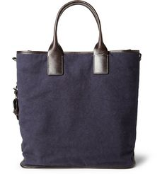 Dolce & Gabbana Leather-Trimmed Canvas Tote Bag | MR PORTER
