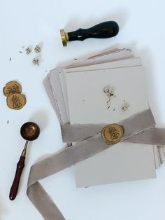 All the wax seals, handmade paper and pretty details to personalise your wedding invites Romantic Wedding Stationery, Custom Wedding Invitations, Invites, Romantic Wedding Inspiration, Wedding Ideas, Gold Wedding, Elegant Wedding, Handmade Envelopes, Metal Engraving