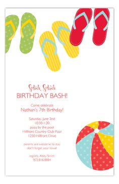 Summer Flip Flops Invitation from Polka Dot Design