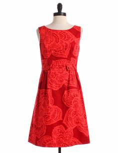 Red Printed Sleeveless Dress by Tabitha by Anthropologie - Size 6 - $49.00 on LikeTwice.com