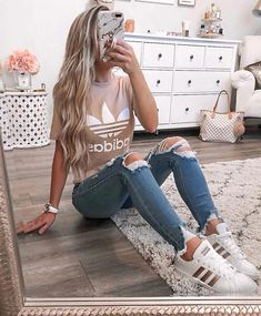 outfits 2020 Women Jeans Plus Size Skinny Jeans Slim Fit Cargo Pants Slim . outfits 2020 Women Jeans Plus Size Skinny Jeans Slim Fit Cargo Pants Slim Straight JeansWomen's Adventurer Stretch Crop Cargo Pants - Slightly C. Cute Teen Outfits, Cute Outfits For School, Teen Fashion Outfits, Teenager Outfits, Cute Summer Outfits, Look Fashion, Fashion Clothes, Women's Clothes, Clothes Sale