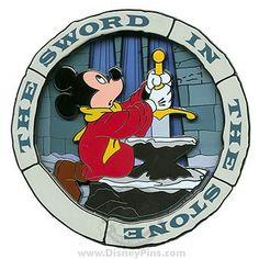 disney sword in stone mickey pin Disney Cats, Disney Fun, Disney Magic, Disney Mickey, Disney Pixar, Walt Disney, Disney Cruise, Disney Stuff, Disney Characters