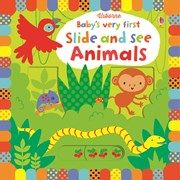 Buy Baby's Very First Slide and See Animals by Fiona Watt at Mighty Ape NZ. An engaging, interactive board book, specially designed for very young children, full of vivid colours, stylish illustrations and friendly animals. Toddler Books, Childrens Books, Fiona Watt, Interactive Board, Sensory Book, Sliding Panels, Matching Cards, Baby Grows, Illustrations