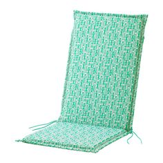 NÄSTÖN Seat/back pad, outdoor IKEA Ties and a strap keep the seat/back pad firmly in place on the chair.