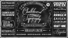 25 Free Brilliant Chalkboard Design Assets - from 1minus1 FREE PSD file, fonts and vectors