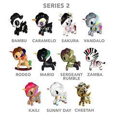 tokidoki blind boxed Unicornos, series 2