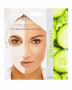 Jean Pierre Womens 15 Minute Spa Level Treatment Cucumber Facial Mask Pack of 3 *** Learn more by visiting the image link.