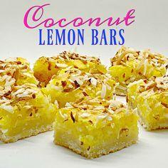 Lemon Coconut Bars, Lemon Bars, Old Recipes, Real Food Recipes, Yummy Treats, Sweet Treats, Pretzel Crust, Christmas Fudge, Butterscotch Chips
