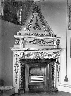 A fireplace in Mereworth Castle.