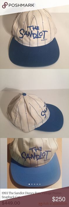 780fb34840a Vintage The Sandlot 1993 Disney SnapBack Hat RARE VERY RARE 1993 The  Sandlot Disney promo pinstripe Snapback hat ! These hats were made for and  give to the ...