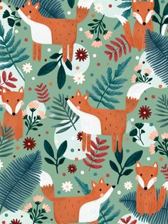 Issue 113 features eight gorgeous prints by Amy Williamson and we're giving you one as a free phone background, tablet wallpaper and desktop background. If you like fox illustrations then this is the one for you. #print #pattern #autumn