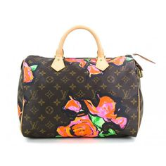 Louis Vuitton Limited Edition Monogram Stephen Sprouse Roses Speedy 30 Bag