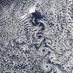 Von Kármán Vortices in the Greenland Sea