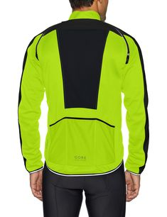 GORE BIKE WEAR Mens Cycling Jacket Phantom Plus Gore WINDSTOPPER Zipoff Jacket Size: L Neon yellow/Black JWIPHA >>> Visit the image link more details. (This is an affiliate link)