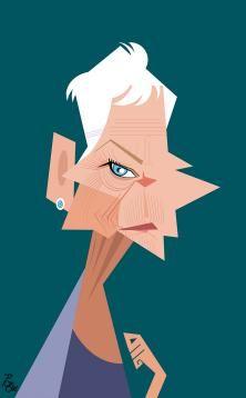 Dame Judi Dench: Alireza Pakdel caricatures