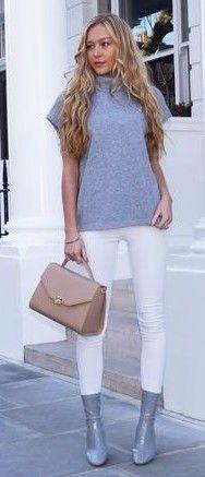 bddbaf16a69  summer  fashion  outfitideas White + Grey Office Fashion