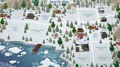 Snowflake Village || Fan Made World TS4
