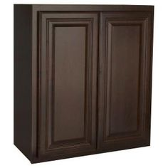 Laundry room cabinet - Hampton Bay 27x30x12 in. Cambria Wall Cabinet in Java KW2730-CJM at The Home Depot - Mobile
