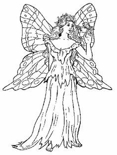Fairy Coloring Pages, Cool Coloring Pages, Adult Coloring Pages, Coloring Books, Drawing Templates, Drawing Sketches, Drawings, Elves And Fairies, Digi Stamps