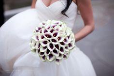 calla lily bouquet. Love the purple centers.
